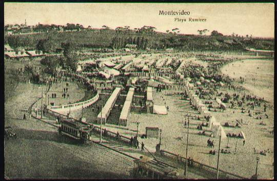 Montevideo 1915 - Playa Ramirez - Tranvias