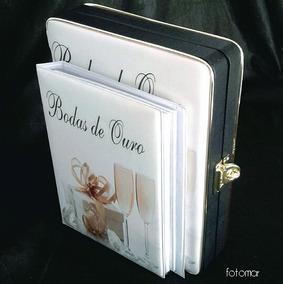 Álbum Bodas De Ouro 80 Fotos 10x15/ 15x21 Cm.