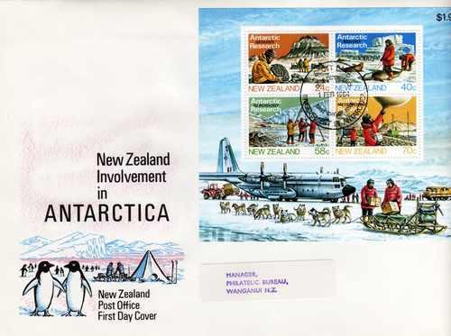 Sobre Primer Dia Nueva Zelanda Año 1984 Blocktema Antartida