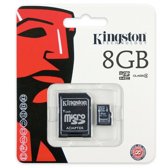 Cartão De Memória Kingston Micro Sdhc 8gb Com Adaptador