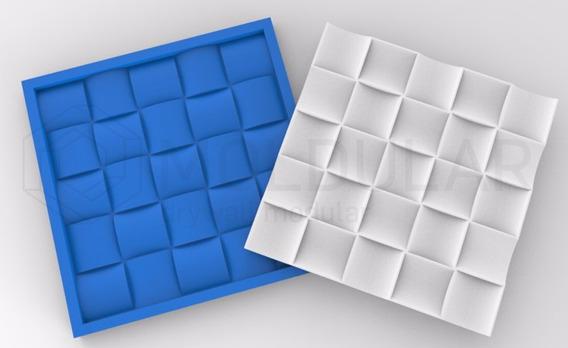Molde / Forma De Silicone Gesso Mosaico 3d Côncavo Madeira