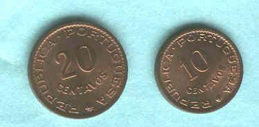 Serie De 2 Monedas De Mozambique Sin Circular