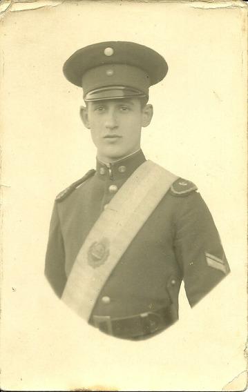 Tarjeta Foto Postal Uniforme Abanderado 1931 Antigua