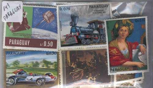 149 Estampillas Diferentes De Paraguay Conmemorativas