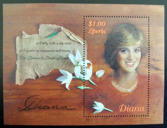 Liberia, Bloque Princesa Diana 1 Sello 2012 Mint L5627
