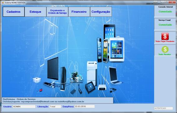 Sistema Locação E Manutenção Equipamentos Eletronicos