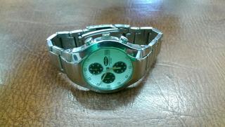 Reloj Orión Pulso Acero Triplecrinometrico Calendario