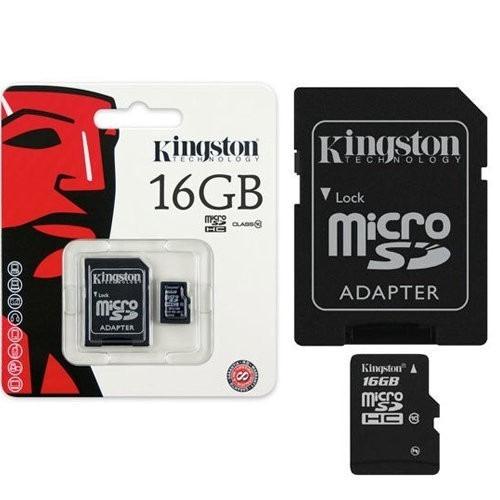 Cartão De Memória Kingston 16gb + Adaptador