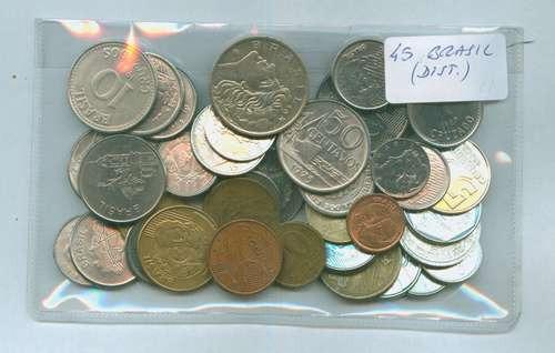30 Monedas De Brasil - Todas Distintas! Oferta!!