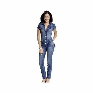 5e9fcad31 Macacão Jeans Feminino Manga Curta Com Frete Grátis - R$ 45,00 em Mercado  Livre