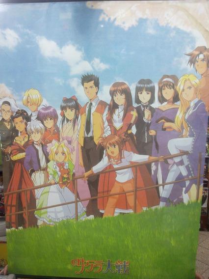 Poster De Tela Sakura Wars 1mts X 0;75 Mts Local Z.devoto