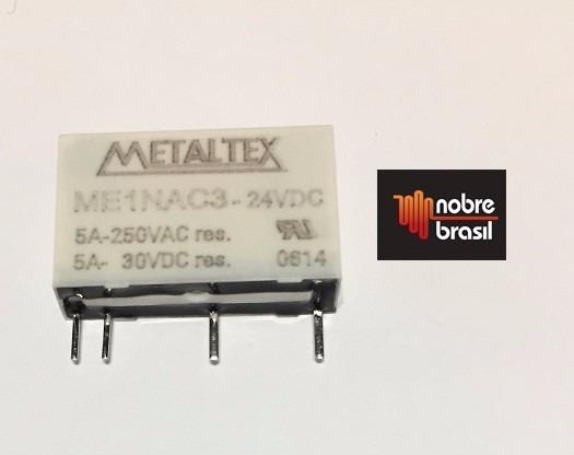 Rele Miniatura 4pinos 5a 250v/5a 30vdc Me1nac3 Metaltex 24 *