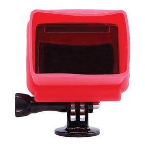 Capa De Silicone Para Gopro Hero3, 3+ Vermelho