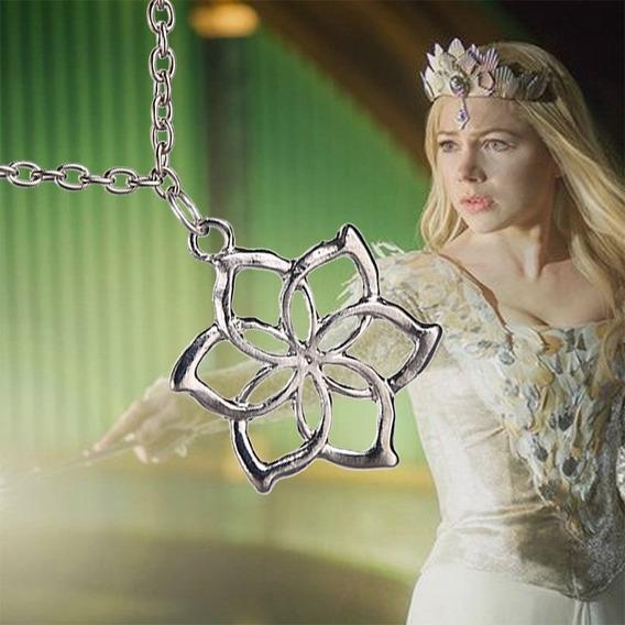 Colar Flor Hobbit Dos Elfos - Rainha Galadriel