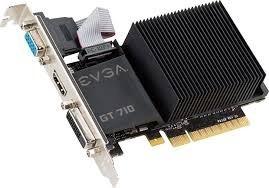 Tarjeta De Video 1gb Ddr3 Geforce Gt 710 Evga Nvidia Nueva