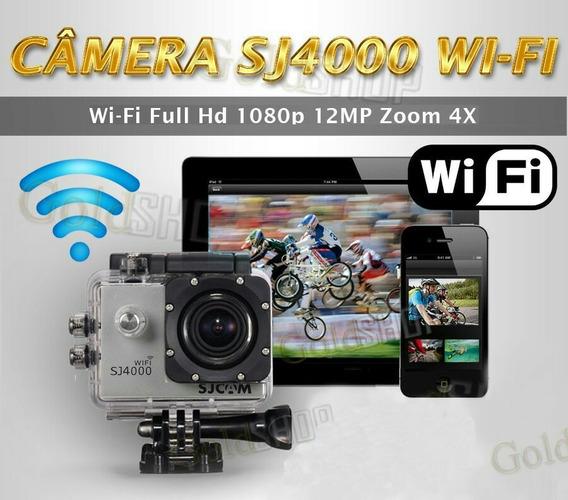 Sjcam Sj4000 Wifi Camera Full Hd + 32gb + Bateria Reserva