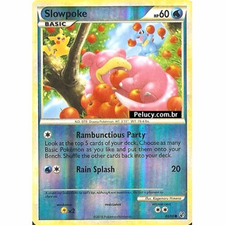 Slowpoke - Pokémon Água Comum 66/90 Foil - Hs Undaunted