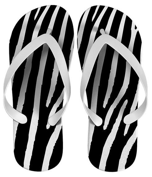 Chinelo Zebra Personalizado Kit Com 50 Pares