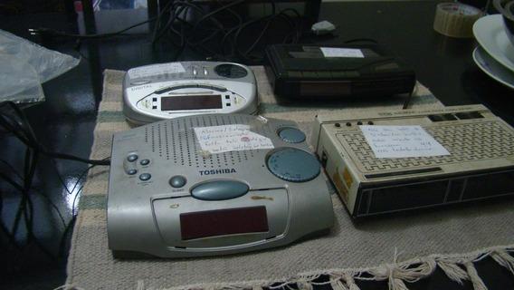 Lote 08 Com 4 Rádios Relógios Para Restauro (ver Descrição)