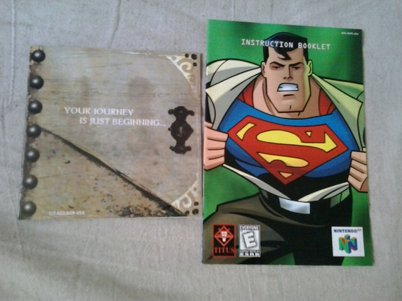 Superman Your Journey Just Begi Manual Jogo Nintendo 64