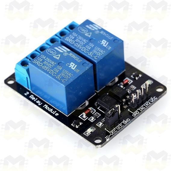 Módulo Relé 5v 2 Canais Automação Arduino Esp8266 Nodemcu