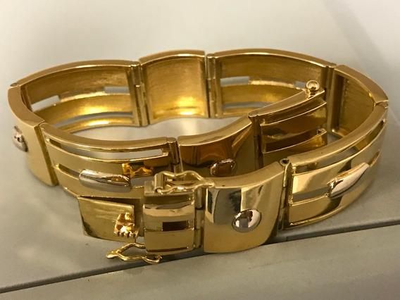 Pulseira Em Ouro 18k-750 20,5 Cm 52.5 Gramas