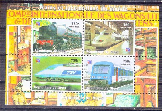 C@- Niger - Trenes - Serie Completa Mint - Oferta Ya !!!