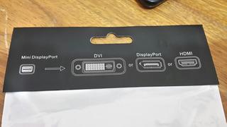 Adaptador Mini Display Port 3 En 1 Dvi-d Vga Hdmi