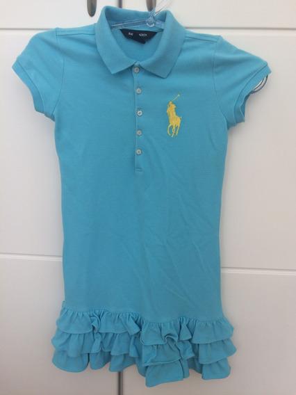 Lindo!! Vestido Infantil Ralph Lauren - 08/10 Anos