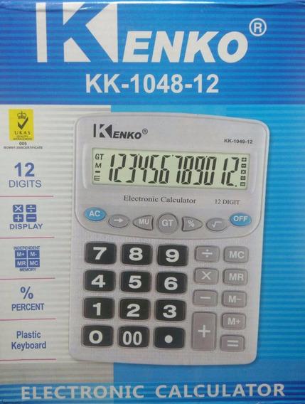 Calculadora Kenko 12 Dígitos De Mesa - Kk-1048-12