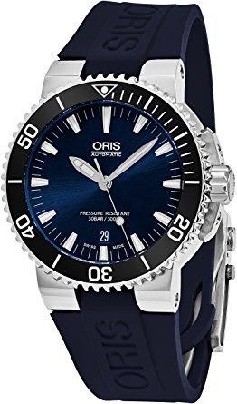 Relógio Oris Aquis 73376534135rs1 Automatico 43mm Azul
