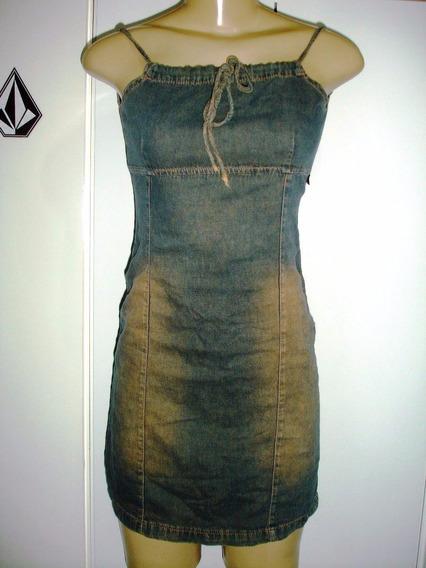 Vestido Jeans Tamanho 14 S/ Strech Marca Rellu A-1