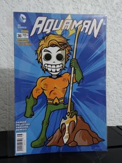 Aquaman # 36 Portada Variante Calaveritas