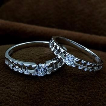 Silver Cz Couples Rings