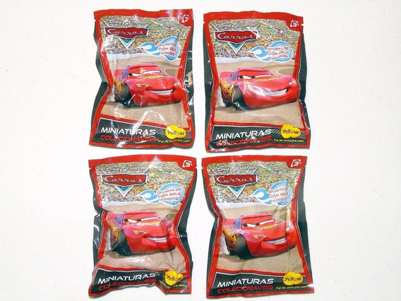 Brinquedo Colecionável Filme Carros Miniaturas Yellow