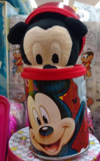 Chaveiro Mickey De Pelúcia + Lata Personalizada Grátis