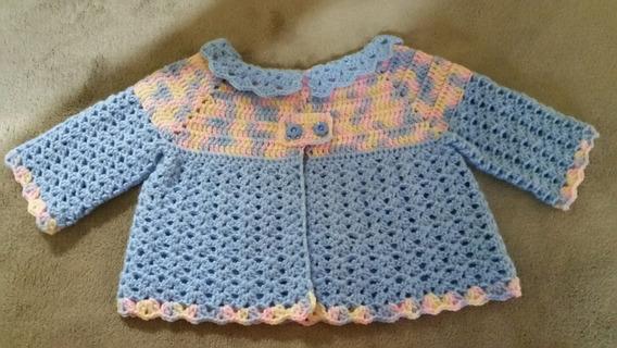 Casaquinho De Lã Em Croche Para Bebê
