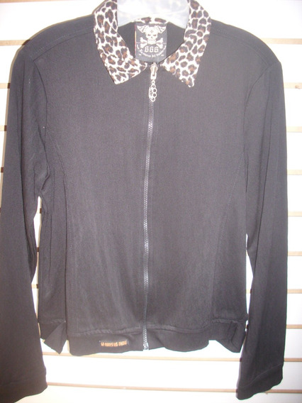 Chamarra Monster Talla L Con Cuello Animal Print Nueva