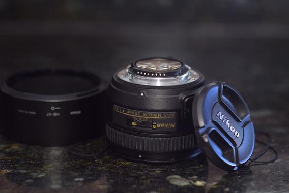 Nikon 50mm 1.4 G Af-s Fx Na Caixa Com Nota