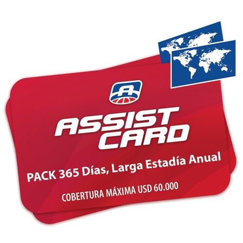 Pack 365 Días, Larga Estadía Anual - Asistencia 60.000 Usd