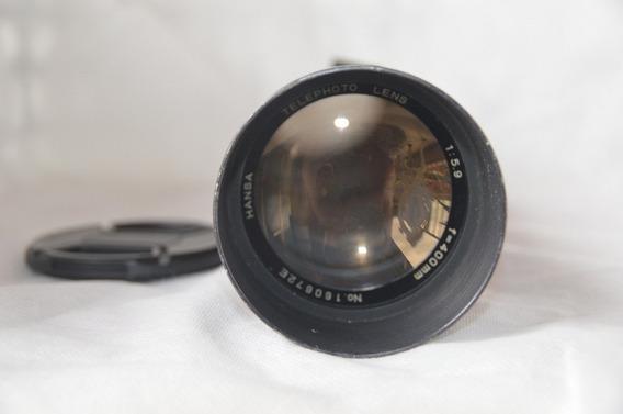 Lente Hansa 1:5.9 400mm Canon Mecânica