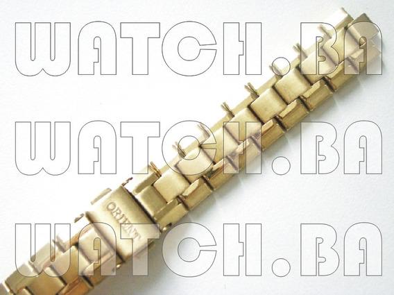 Pulseira Dourada Orient Fgss1025 - Nova, Original!