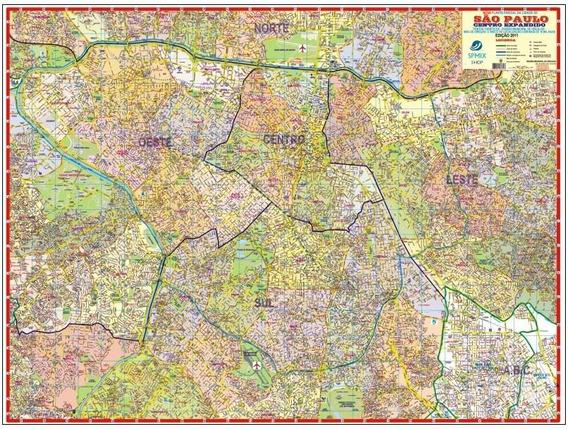 Mapa São Paulo Centro Expandido 120 X 90 Cm Atualizado
