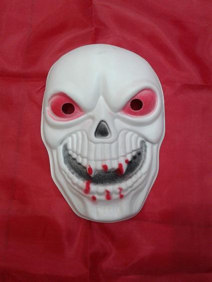Mascara De Goma Eva Calavera Con Sangre Halloween Sanca