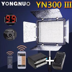 Iluminador 300 Led Yn300 Iii + Bateria Np-f970 + Carregador