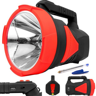 Lanterna Holofote Recarregável Led 2km 28hr Melhor Que X9001