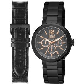 Relógio Dumont Analógico Rotor Original Com Nf