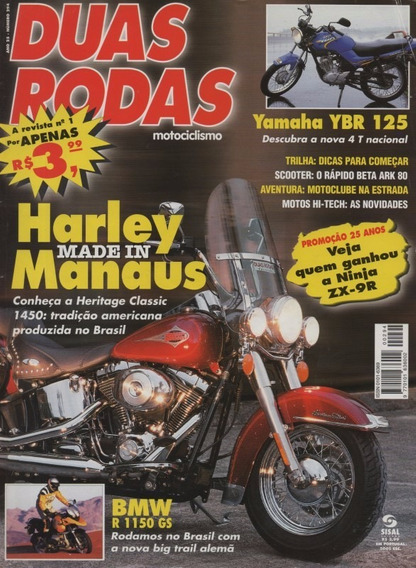 Duas Rodas N°294 Harley Heritage Classic 1450 Yamaha Ybr 125