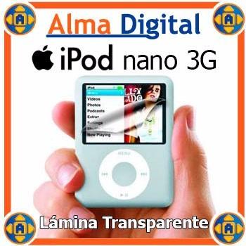 Lamina Protector Pantalla iPod Nano 3g Tranparente