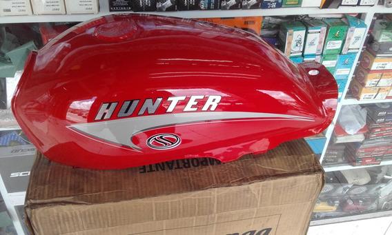 Tanque De Gasolina Hunter 90 Super 100 Vermelho - Com Avaria